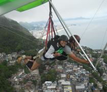 Hang Gliding over Vidigal Favela & 2 brothers peak